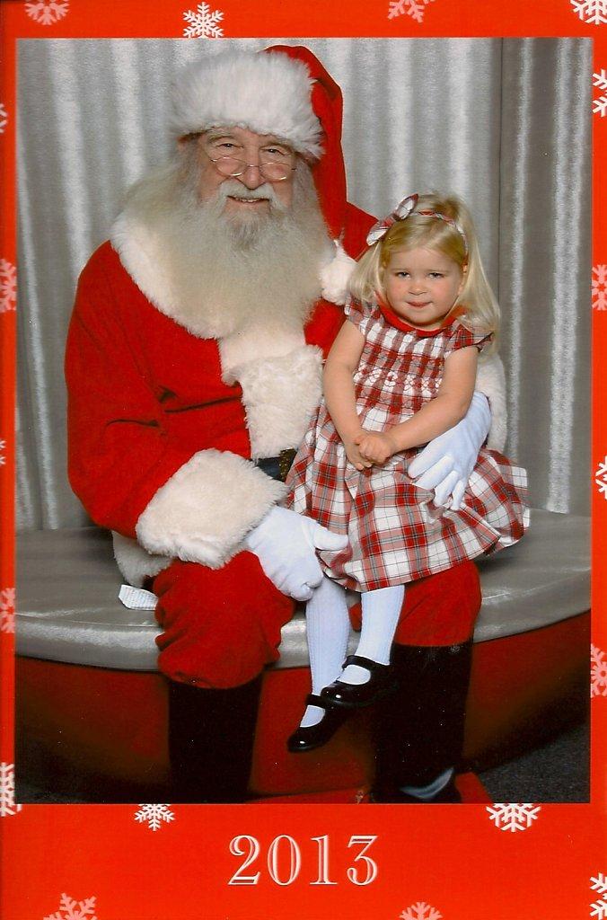 Dec 14, 2013 - Luella visits Santa